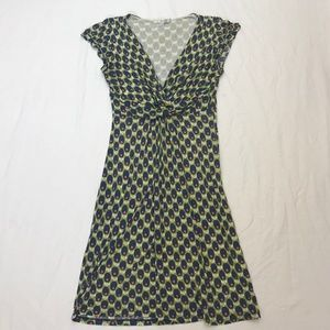 Boden Floral front cross short sleeve dress 4R